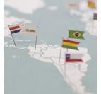 Pins en forme de drapeaux avec les aiguilles pour vos décorations murales