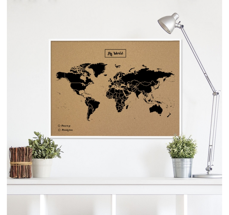d coration carte du monde li ge artwall and co. Black Bedroom Furniture Sets. Home Design Ideas