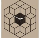 Horloge murale bois cubic
