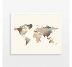 Tableau Photo Aluminium Planisphere