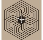Horloge Murale Bois Hexagon