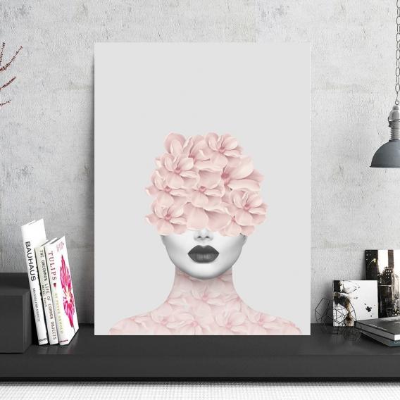 Floral Aluminum Photo Frame
