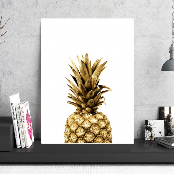 Aluminum Frame Gold Pineapple