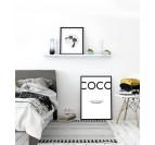 Tableau Aluminium Coco Chanel