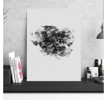 Aluminium Decoration Smoke Woman
