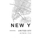 Tableau aluminium Plan New York