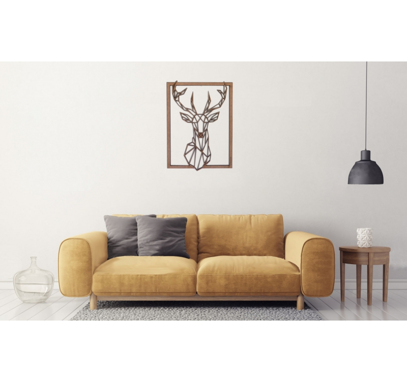 d coration murale cerf bois artwall and co. Black Bedroom Furniture Sets. Home Design Ideas