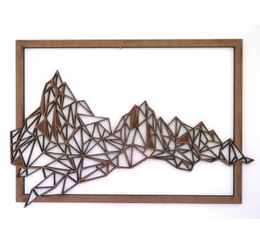 Décoration murale bois montagne