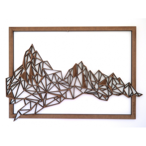 Mountain Wood Wall Decoration