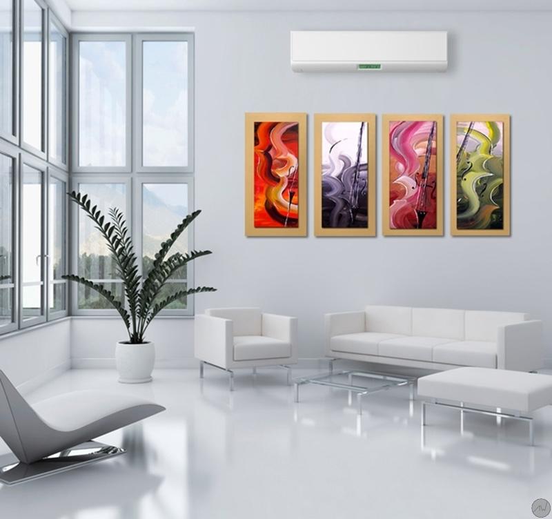 Violons canvas painting artwall and co - Tableau moderne pour salon ...