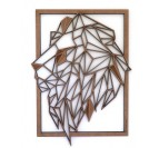 Lion Wood Wall Frame