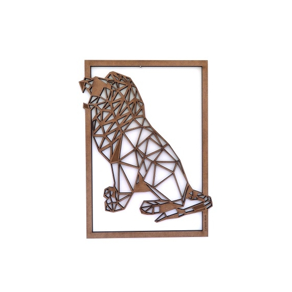 Roaring Lion Wood Wall Decoration