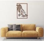 Décoration Murale Bois Lion Rugissant