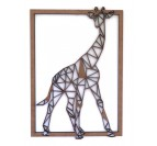 Décoration murale bois Girafe