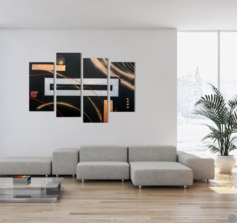 Tableau peinture d co abstract space - Tableau peinture deco ...