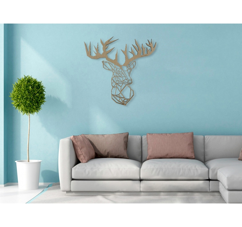 Décoration Design Bois Cerf Artwall And Co