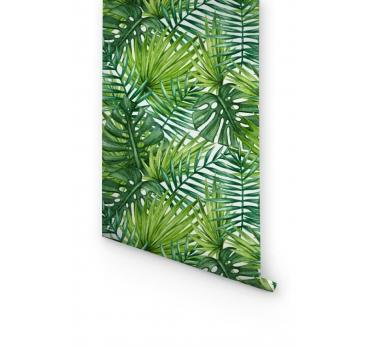 Papier Peint Feuilles Tropicales
