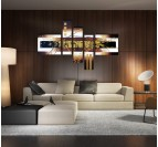 Abstract Gold Painting Canvas