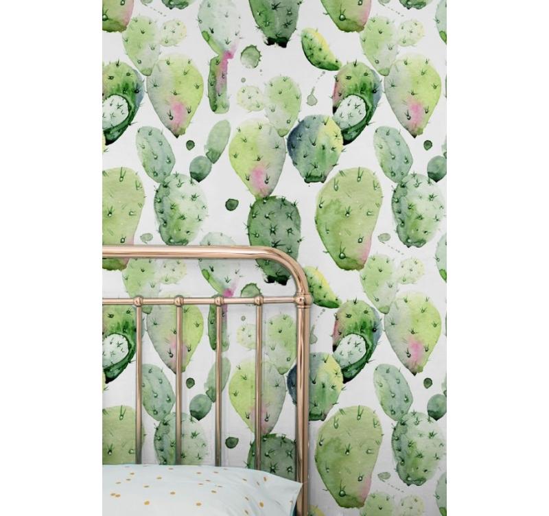 Watercolor Cactus Wallpaper Artwall And Co