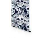 Skull Fleurs Papier Peint