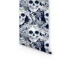 Skull Fleur Papier Peint