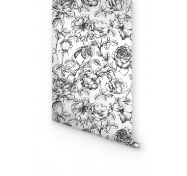 Papier Peint Jardin Noir et Blanc