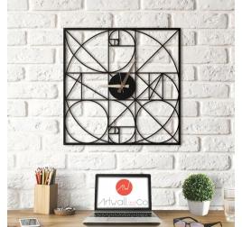 horloge tendance metal mur
