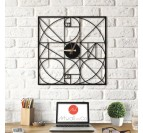 Section Metal Wall Clock