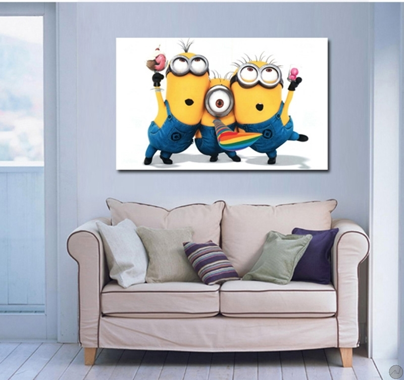 tableau rigolo minions. Black Bedroom Furniture Sets. Home Design Ideas