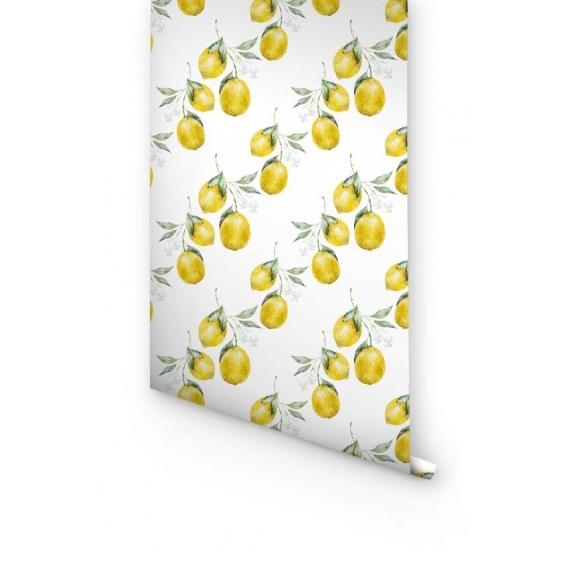 Papier Peint Citron