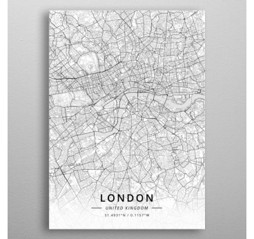 Poster Métal London Map