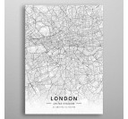 Poster Métal London Map