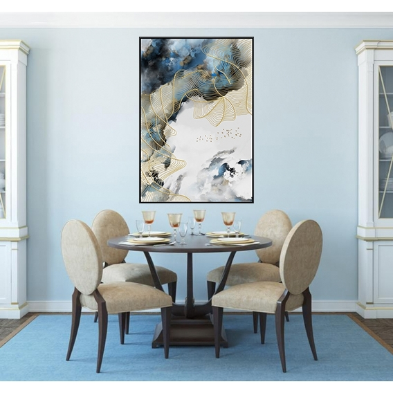 Toile Abstraite Ciel Bleu