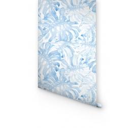 Papier Peint Monstera Bleue