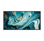 Tableau Abstrait Marbre Bleu