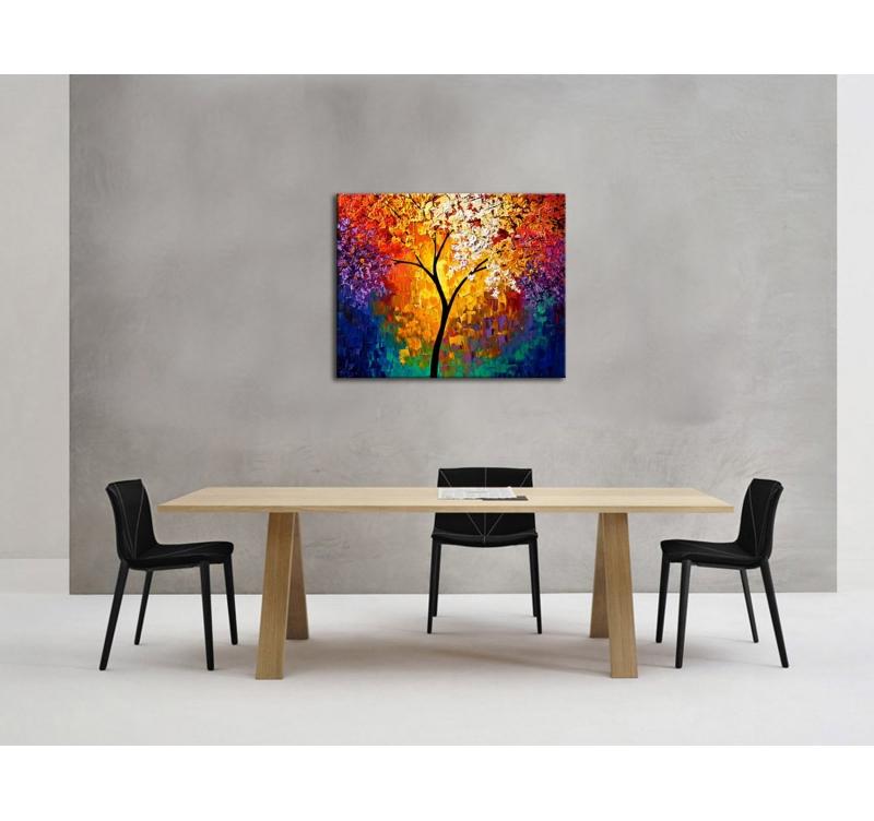 Tableau Peinture Arbre Coloré Artwall And Co