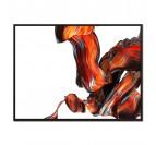 Tableau abstrait ligne rouge
