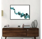 Tableau abstrait ligne bleu