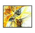 Toile abstraite ciel jaune
