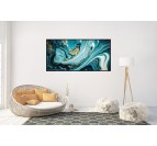 Abstract Blue Marble Canvas