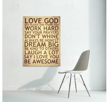 Tableau déco de citations positives pour un mur plein d'inspirations