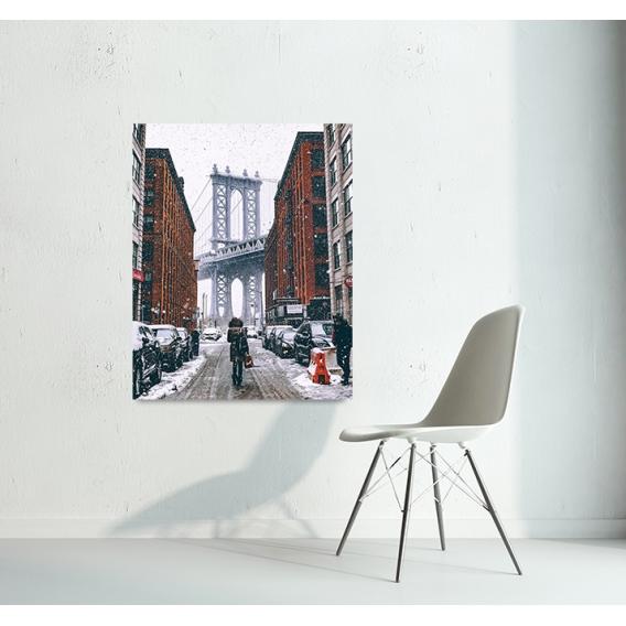 New York Snow Art Photo