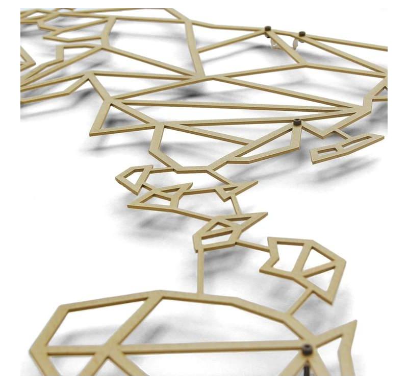 d coration murale m tal gold carte du monde artwall and co. Black Bedroom Furniture Sets. Home Design Ideas