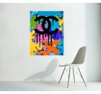Tableau Contemporain Chanel Graffiti