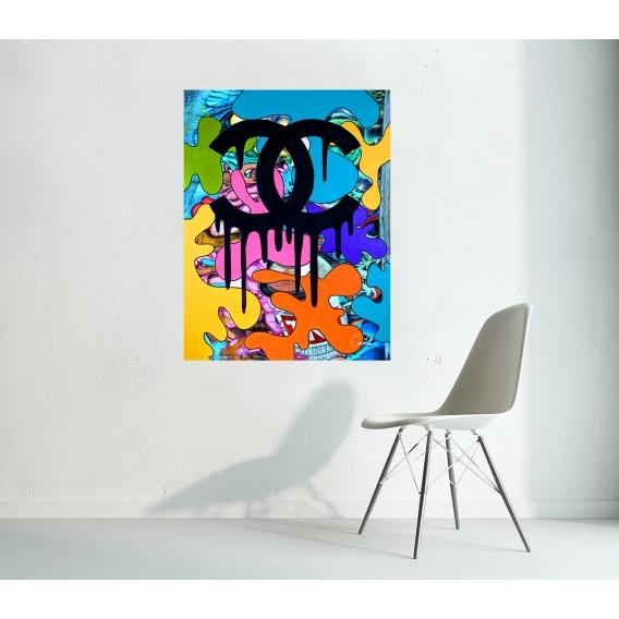 Tableau Contemporain Chanel Graffiti