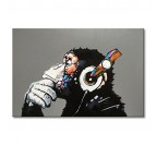 Monkey Music Peinture Pop Art