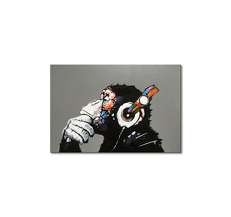 Tableau Peinture Monkey Music