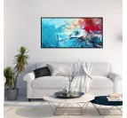 Abstract Blue Symphony Canvas