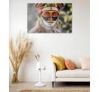Photo d'art ethnique visage