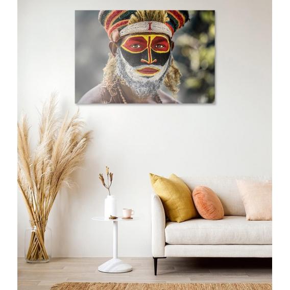 Photo d'Art Ethnique Visage Coloré